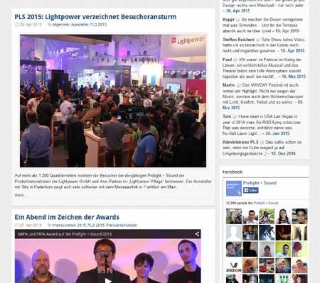 Messe-Berichterstattung für Technologie-Blog